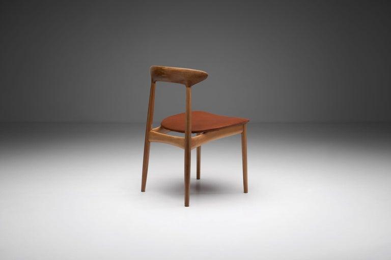 Mid-17th Century Kurt Østervig Walnut Dining Chair, Denmark, 1950s For Sale