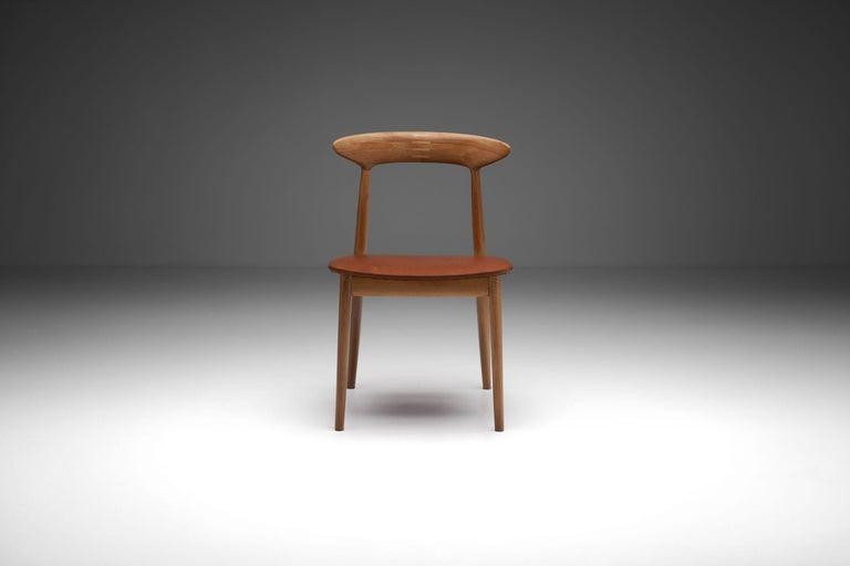 Leather Kurt Østervig Walnut Dining Chair, Denmark, 1950s For Sale