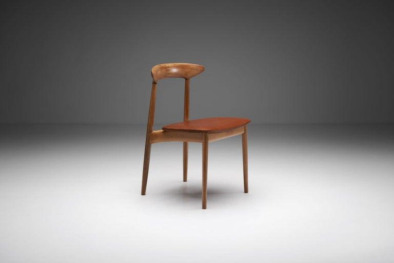 Kurt Østervig Walnut Dining Chair, Denmark, 1950s For Sale 1