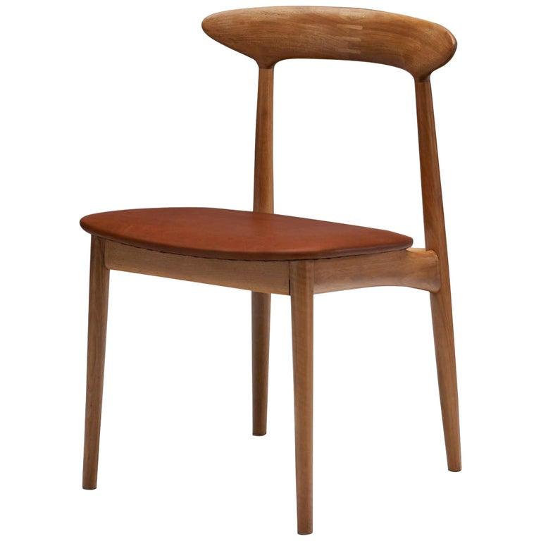 Kurt Østervig Walnut Dining Chair, Denmark, 1950s For Sale