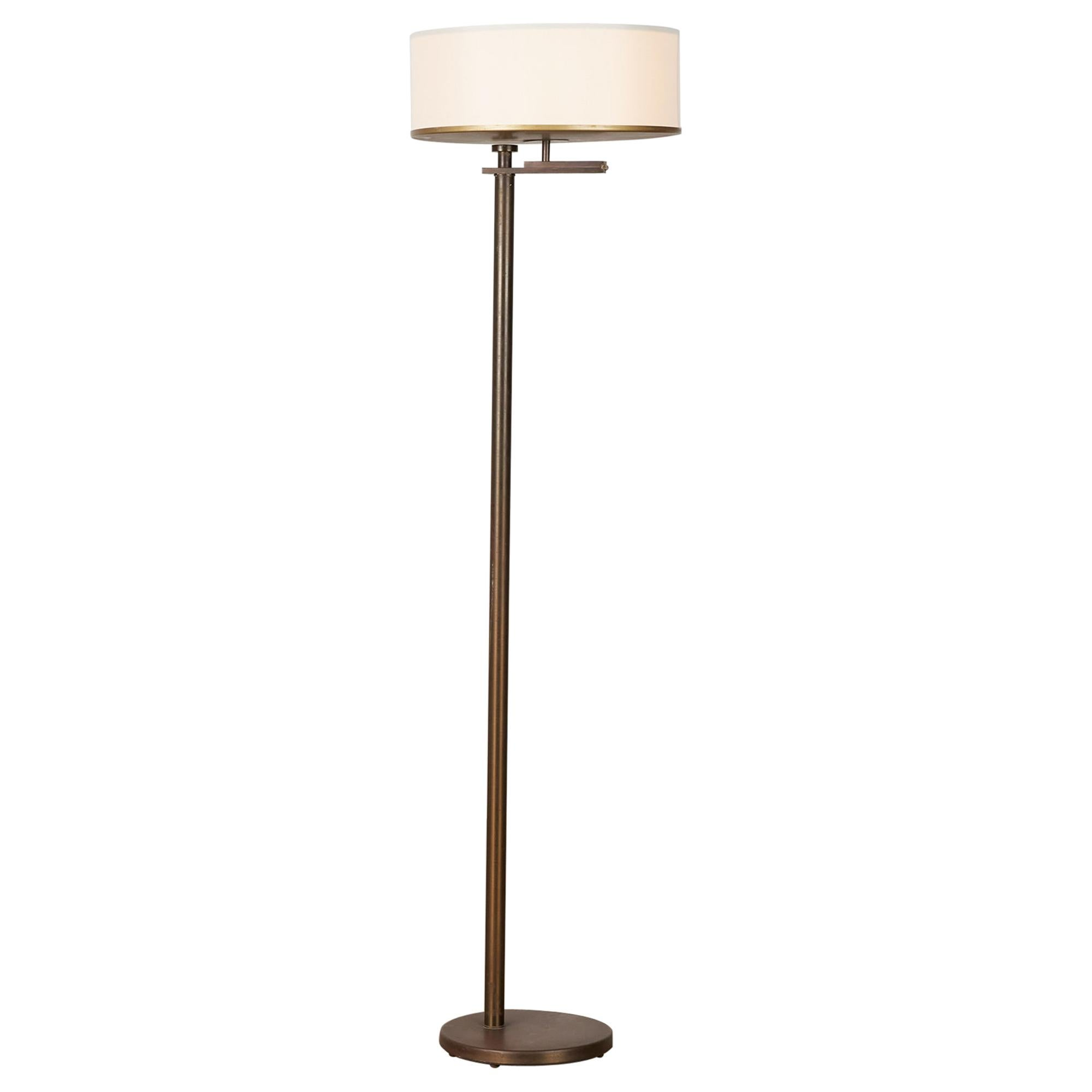 Kurt Versen Bronze Flip-Top Floor Lamp