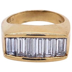 Kurt Wayne Yellow Gold Baguette Men's Diamond Ring
