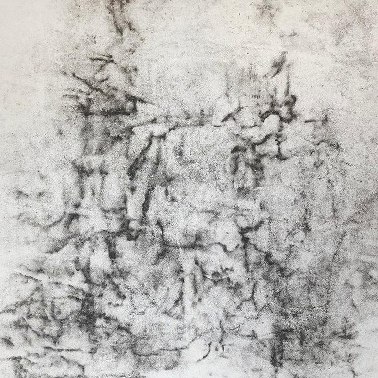 Ash Ceniza #1, (drawing, black and white, abstract, expressionist, ashes, pape For Sale 1