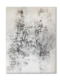Ash Ceniza #1, (drawing, black and white, abstract, expressionist, ashes, pape
