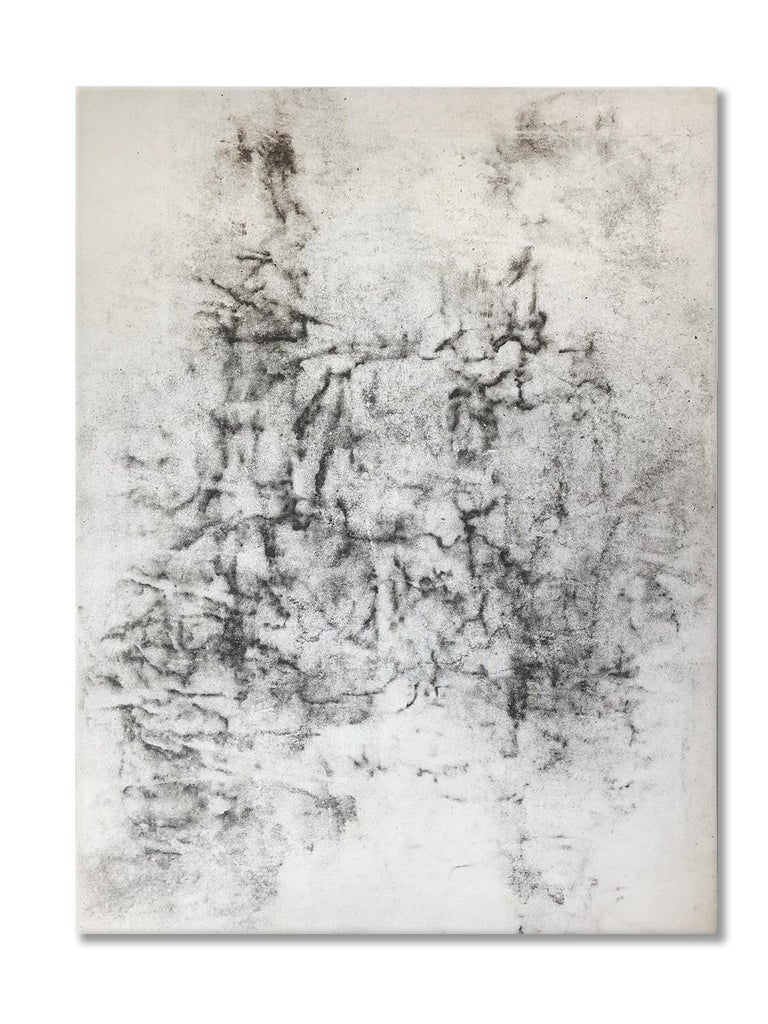Ash Ceniza #1, (drawing, black and white, abstract, expressionist, ashes, pape - Mixed Media Art by Kurtis Brand