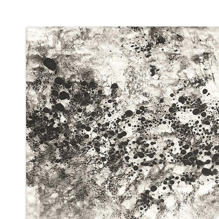 Ash Ceniza #10 (black and white, ashes, abstract expressionist, charcoal) - Abstract Mixed Media Art by Kurtis Brand