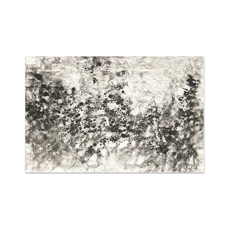 Ash Ceniza #10 (black and white, ashes, abstract expressionist, charcoal) - Mixed Media Art by Kurtis Brand