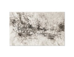 Ash Ceniza #15, (black and white, ashes, abstract expressionist, charcoal)