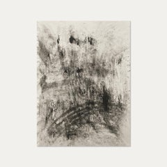Ash Ceniza #19, (black and white, ashes, abstract expressionist, charcoal)
