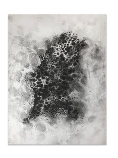 Ash Ceniza #3, (drawing, black and white, abstract, expressionist, ashes, paper)