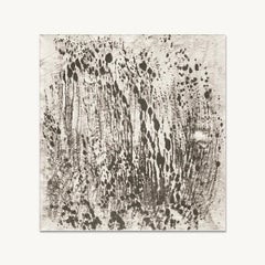 Ash Ceniza #8 (drawing, black and white, abstract, expressionist, ashes, canvas)