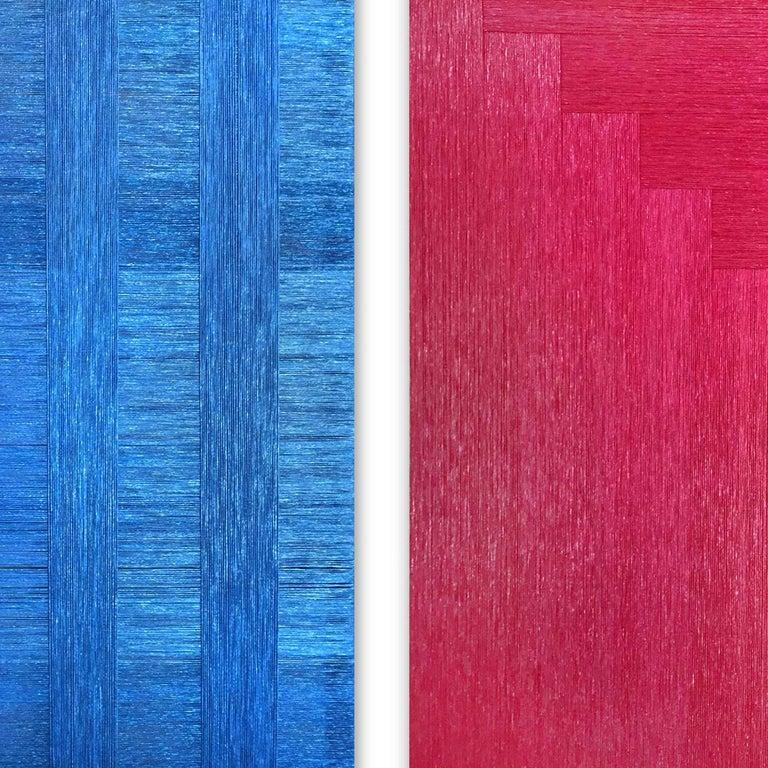 Pita Plastica Diptych (nylon art, minimalist, latin america, textile art) For Sale 1