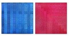 Pita Plastica Diptych (nylon art, minimalist, latin america, textile art)
