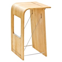 Kurvor Counter Stool in Oiled Rift Sawn Red Oak by Samantha Brueggen for Wooda