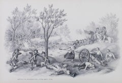 """Battle of Monmouth, June 28, 1778,"" Original Lithograph by Kurz & Allison"