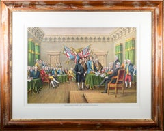 """""""Declaration of Independence"""" original lithograph Philadelphia July 4th 1776"""