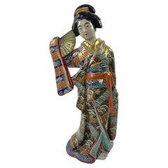 Kutani Porcelain Bijin, Japan, c. 1890, Meiji Period