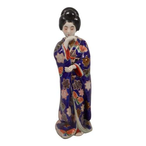 Kutani Porcelain Figure of a Bijin, circa 1900, Meiji Period