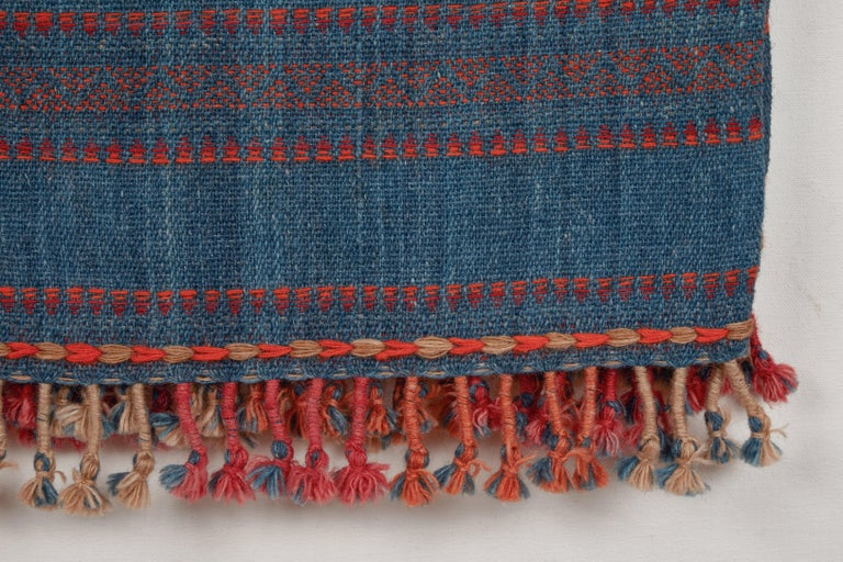 Indian Kutch Handwoven Wool Throw For Sale