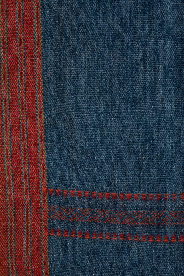 Hand-Woven Kutch Handwoven Wool Throw For Sale
