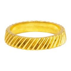 Kutchinsky 18 Carat Gold Ornate Band
