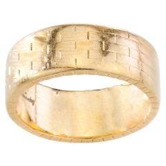 Kutchinsky 18 Karat Gold Ring Band, Made in London, 1960