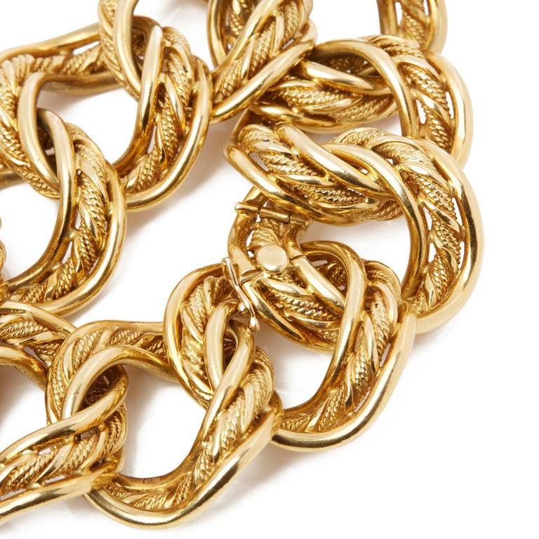 Women's Kutchinsky 18 Karat Yellow Gold 1960's Heavy Link Vintage Bracelet