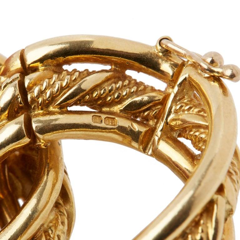 Kutchinsky 18 Karat Yellow Gold 1960's Heavy Link Vintage Bracelet 2