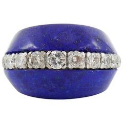 Kutchinsky 18 Karat Yellow Gold Lapis and Diamond Ring