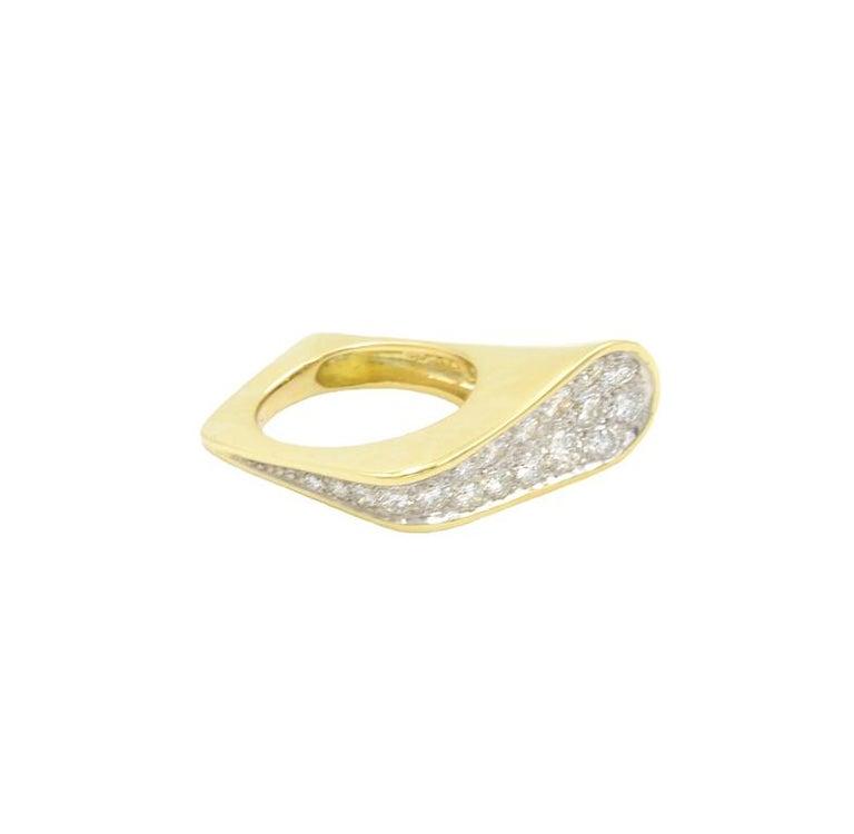 Modernist Kutchinsky Diamond Ring, 1972 For Sale
