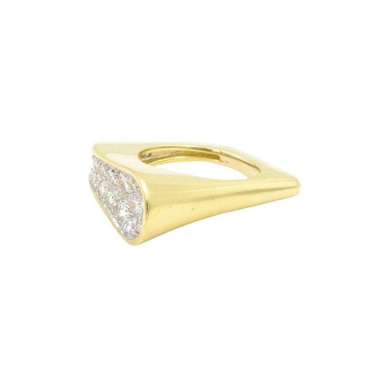 Round Cut Kutchinsky Diamond Ring, 1972 For Sale