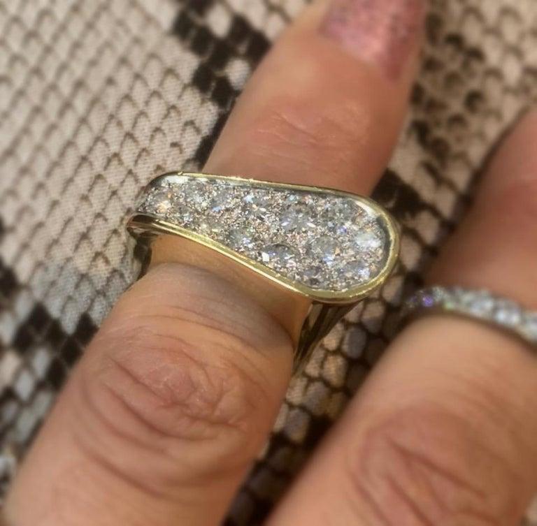Women's Kutchinsky Diamond Ring, 1972 For Sale