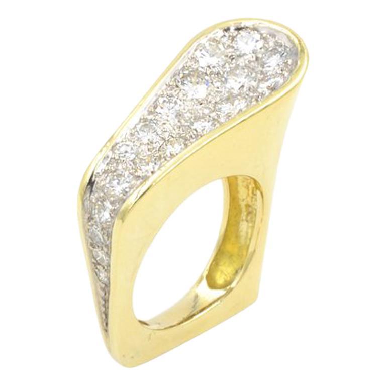 Kutchinsky Diamond Ring, 1972 For Sale