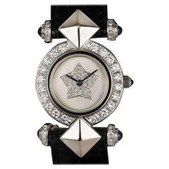 Kutchinsky Dress Watch Ladies White Gold Silver Dial Diamond Set Quartz Watch