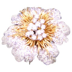 Kutchinsky Flower Head Brooch 34 Carat