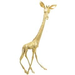 Kutchinsky Large Yellow Gold Giraffe Brooch