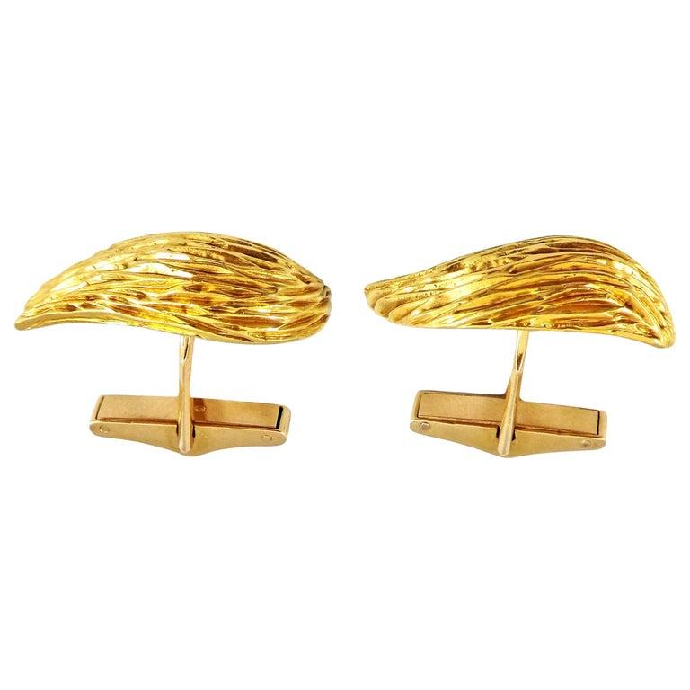 Kutchinsky, London, 18 Karat Gold Cufflinks For Sale
