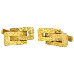 Kutchinsky, Vintage 18 Karat Gold Cufflinks, Made in England, circa 1970s