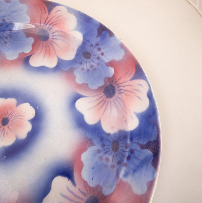 Russian Kuznetsov Ceramic Plate, Russia, Early 20th Century For Sale