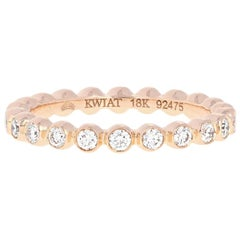 Kwiat .55ctw Round Brilliant Diamond Wedding Band, 18k Rose Gold Eternity Ring