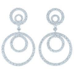 Kwiat Contorno Diamond Earrings in 18 Karat White Gold