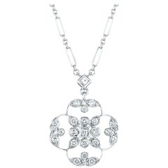 Kwiat Diamond Pendant Necklace from the Crochet Collection in 18 Karat Gold