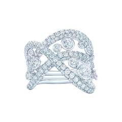 Kwiat Diamond Ring from the Entwine Collection in 18 Karat White Gold