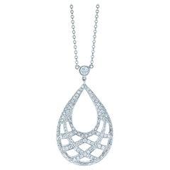 Kwiat Jacquard Diamond Pendant in 18 Karat White Gold