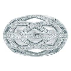 Kwiat Jacquard Diamond Ring in 18 Karat White Gold