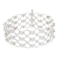 Kwiat Jasmine Diamond Bracelet in 18 Karat White Gold 5.28 Carat