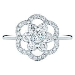 Kwiat Oasis Diamond Ring in 18 Karat White Gold