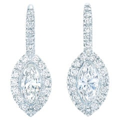 Kwiat Silhouette Diamond Earrings in Platinum and 18 Karat White Gold