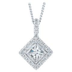 Kwiat Silhouette Diamond Pendant in 18 Karat White Gold