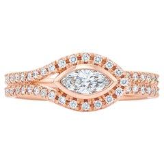 Kwiat Silhouette Diamond Ring in 18 Karat Rose Gold